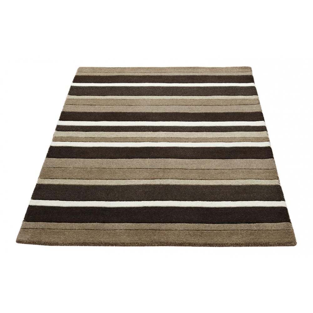 Brown Amp Black Striped Wool Rug Carpet Runners Uk