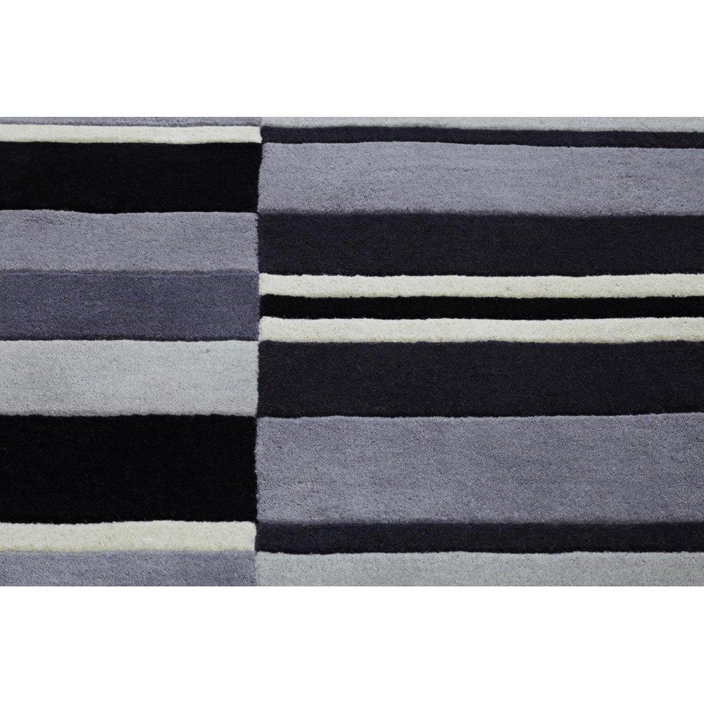 Grey Jazz Blocks Wool Rug Carpet Runners Uk