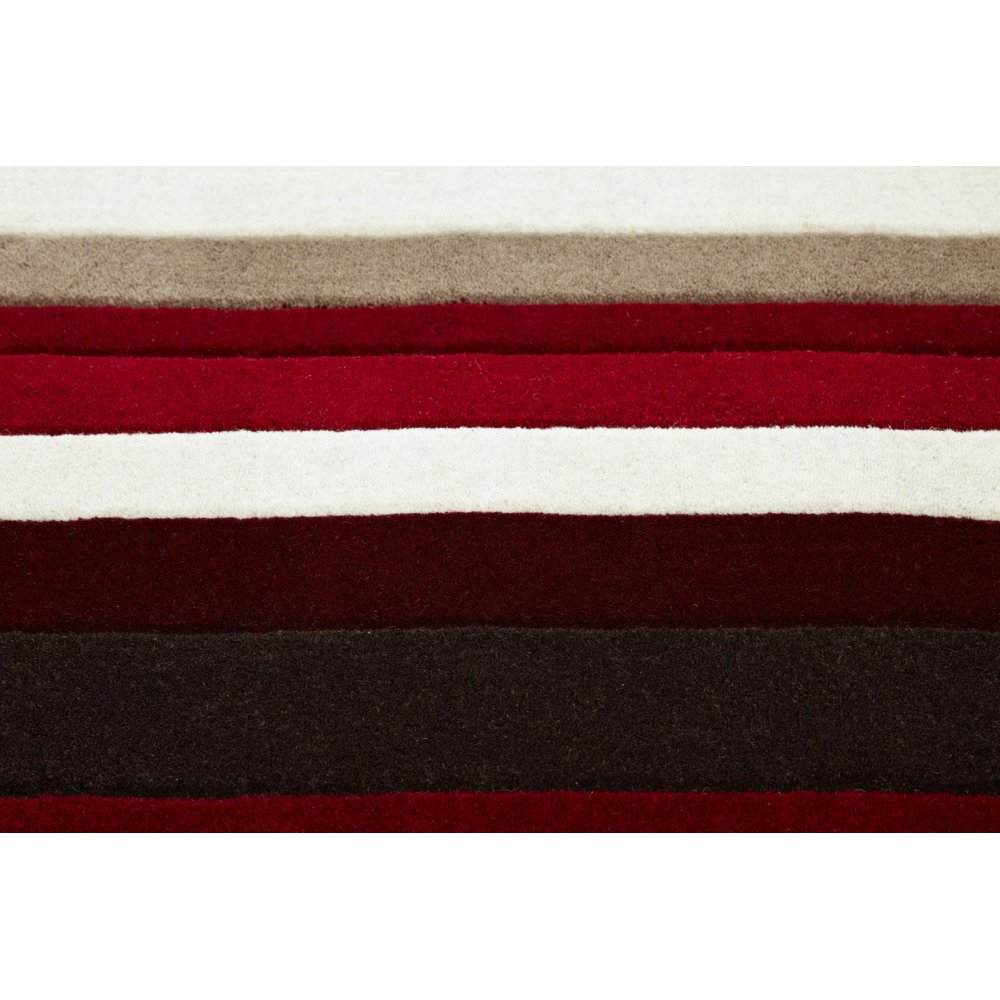 Red Amp Black Striped Wool Rug Carpet Runners Uk