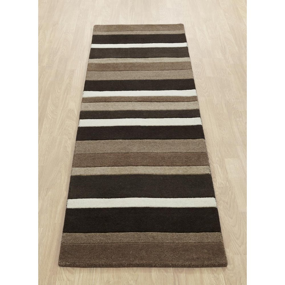 Brown Amp Black Striped Wool Rug Carpet Runners Uk