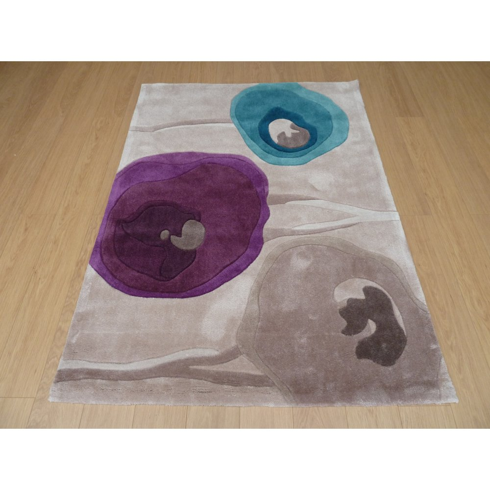 Blue & Purple Modern Art Poppy Rug