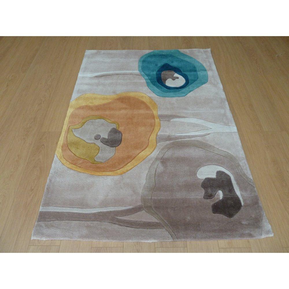 Blue Amp Yellow Infinite Modern Art Poppy Rug Carpet