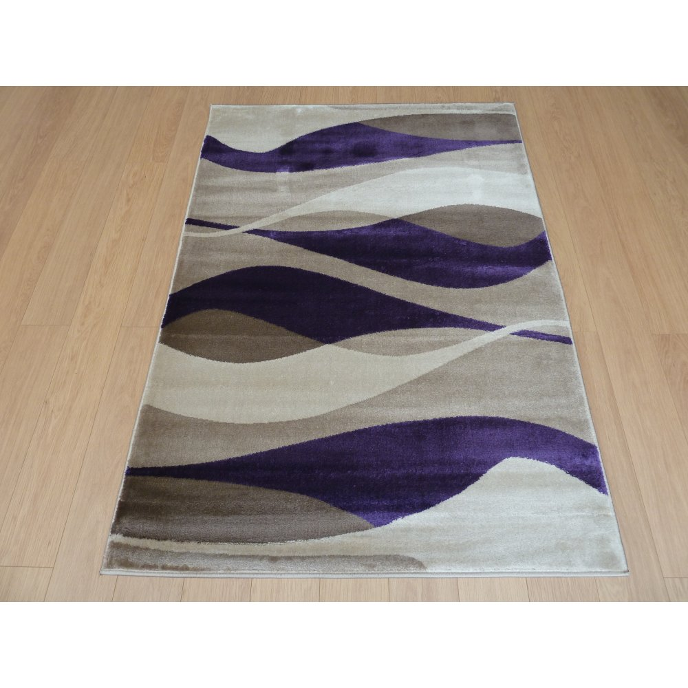 Modern purple rugs contemporary shag rug 110 purple for Purple area rugs contemporary