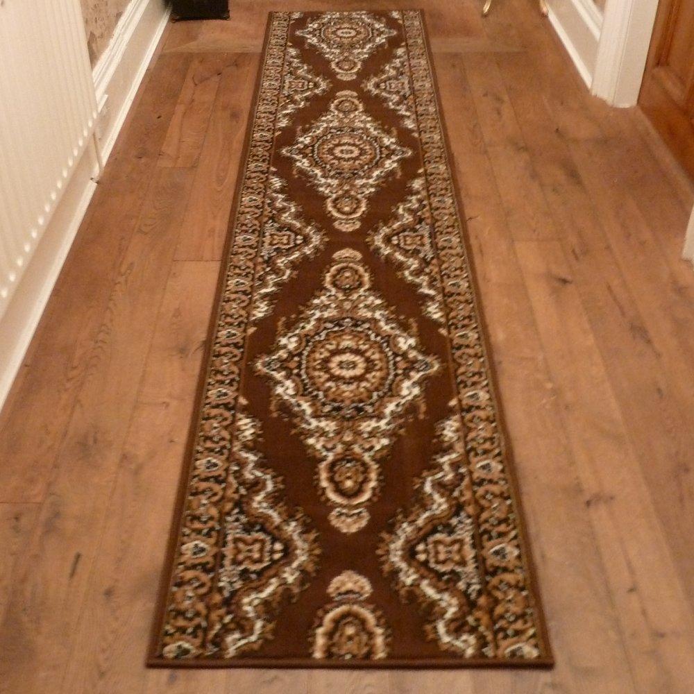 Runner Rugs Uk: Brown Traditional Hallway Carpet Runner