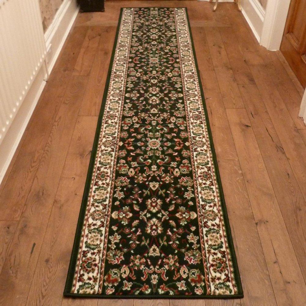 Dark green hall runner rug persian carpet runners uk for How do you buy carpet