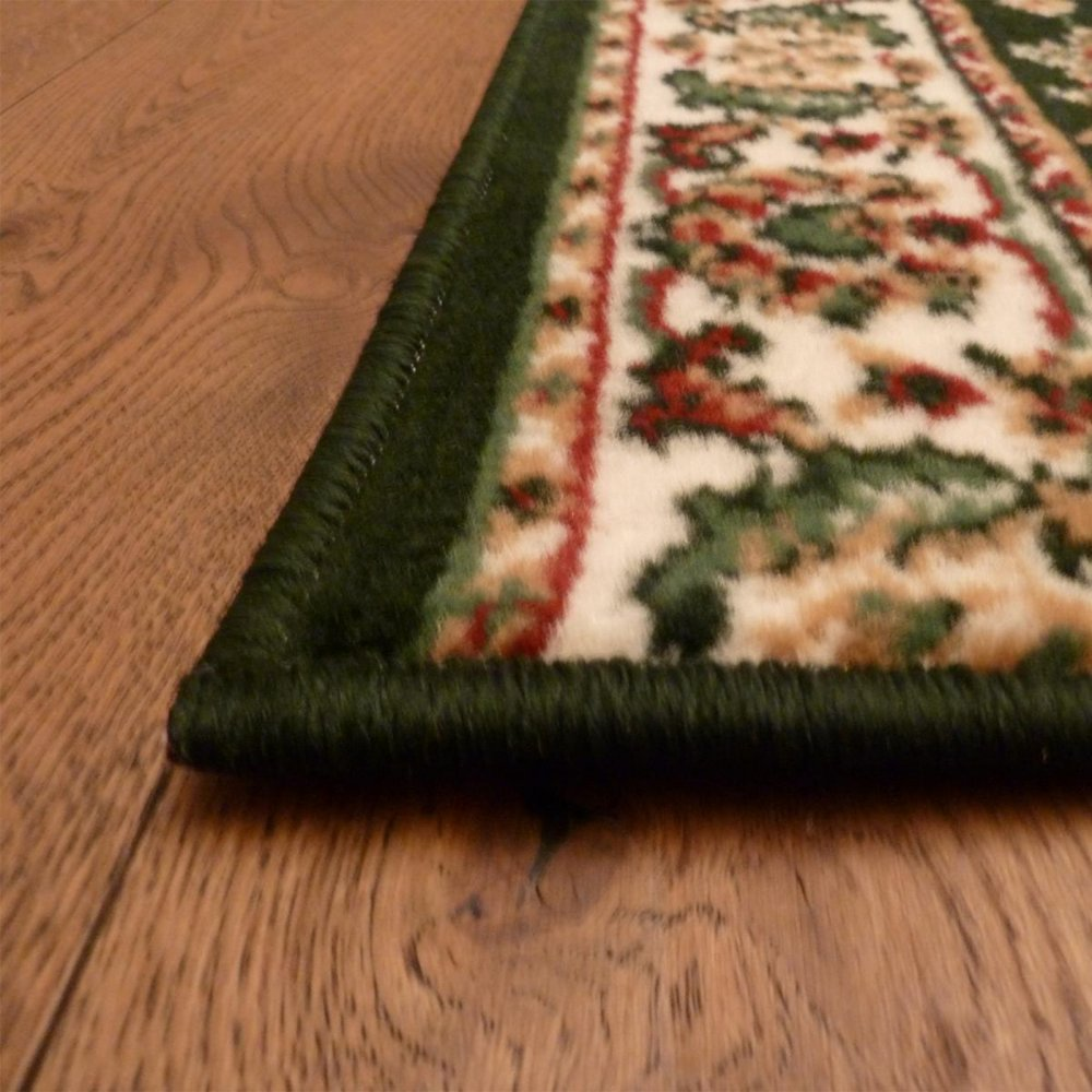 Dark Green Hall Runner Rug