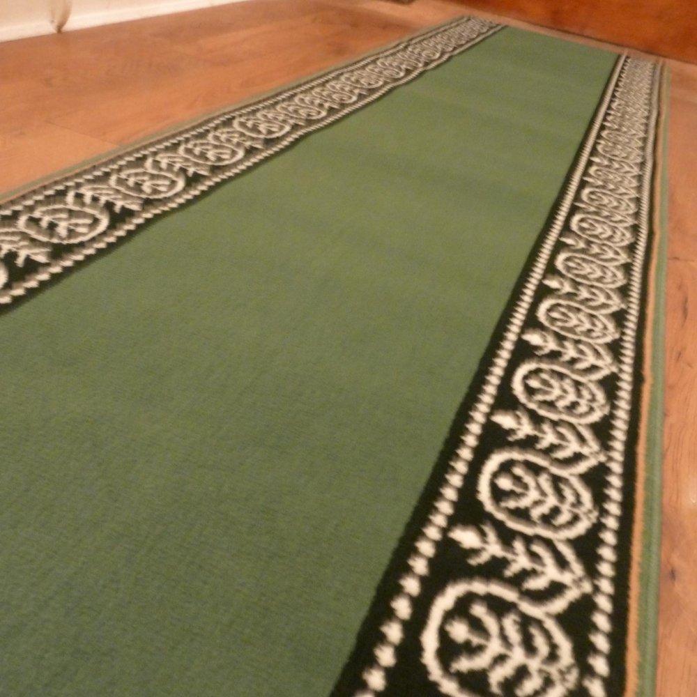 Green Hall Runner Rug Motif Carpet Runners Uk