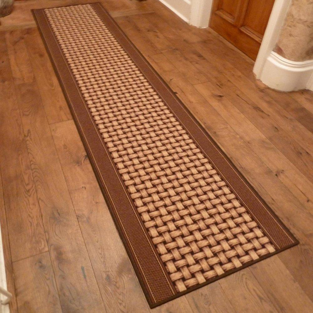 Brown Hall Runner Rug Lapulga Carpet Runners Uk