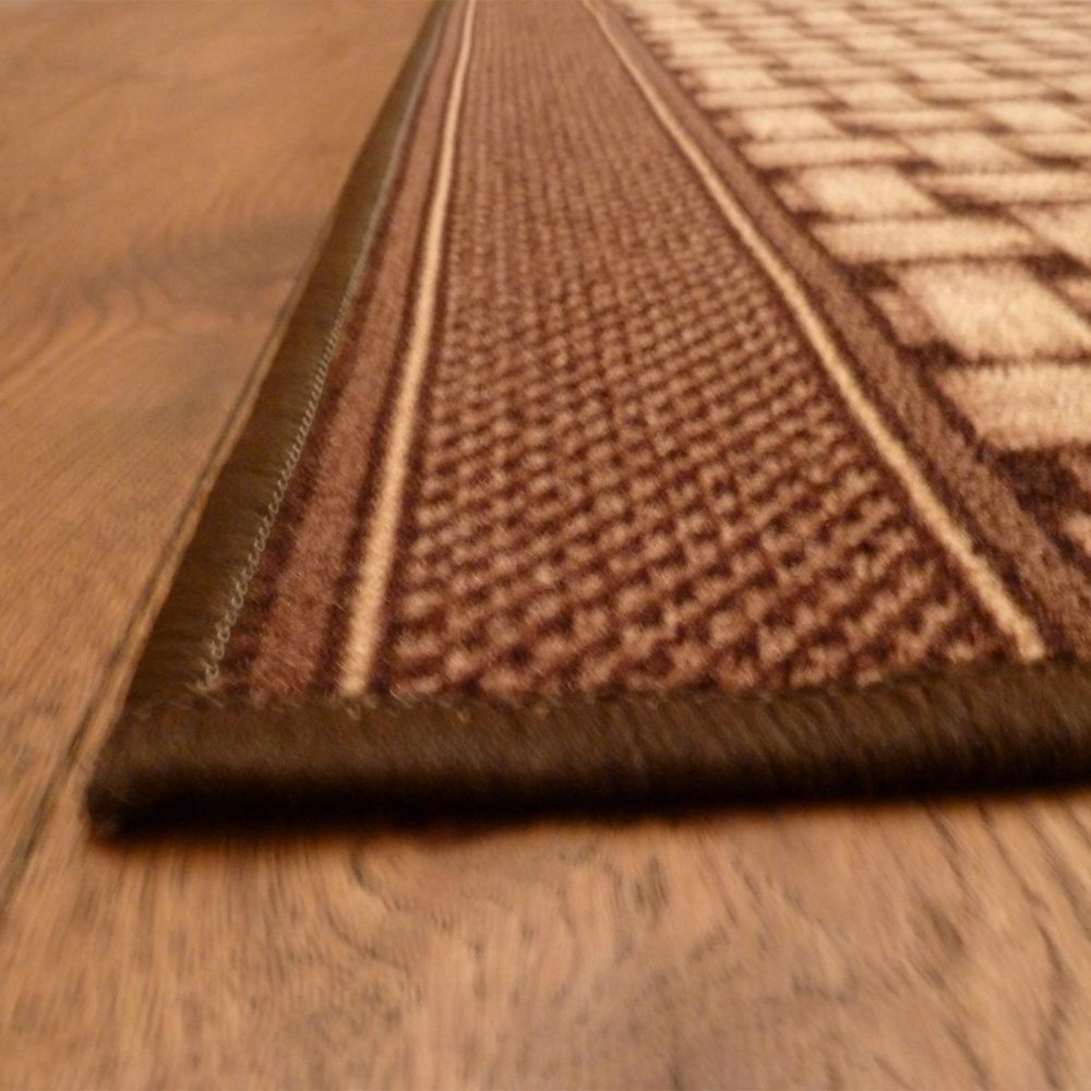Brown Hall Runner Rug Lapulga Carpet Runners Uk