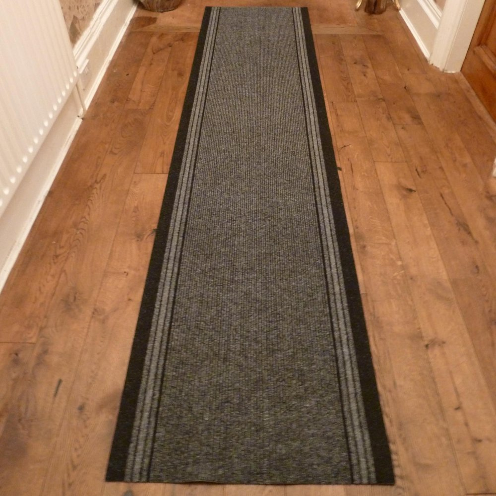 Grey Hall Runner Rug - Inca - Carpet Runners UK