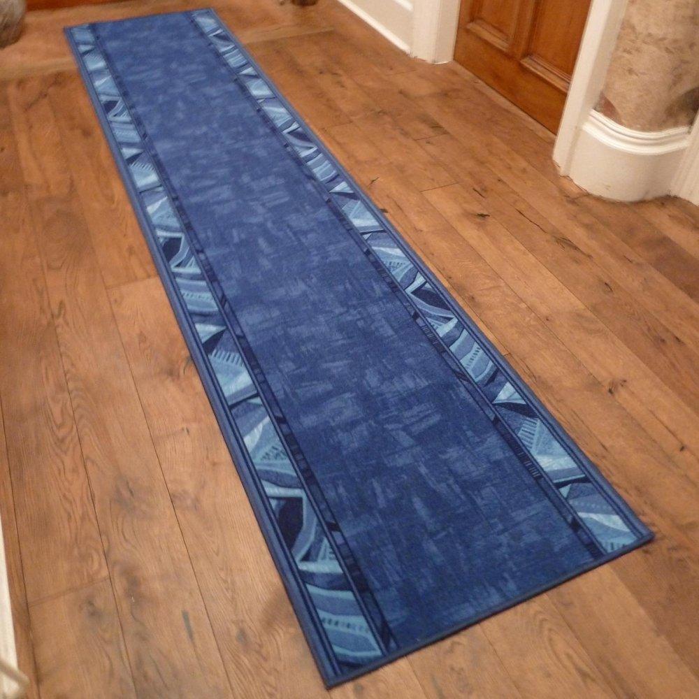 Blue Hall Runner Rug Corrido Carpet Runners Uk