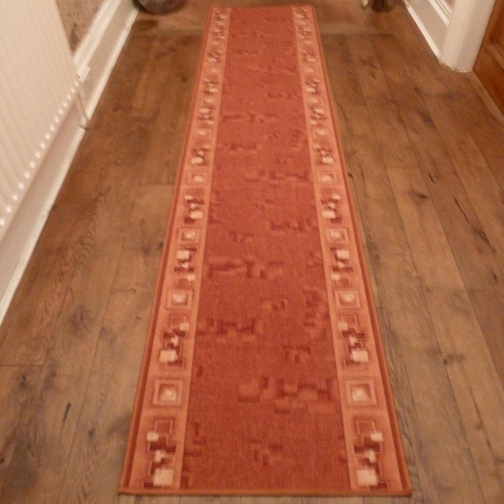 Terracotta Hall Runner Rug Corona Carpet Runners Uk