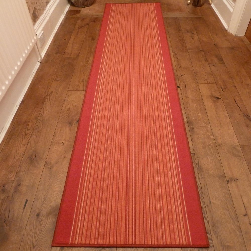 Terracotta Hall Runner Rug Carnaby Carpet Runners Uk