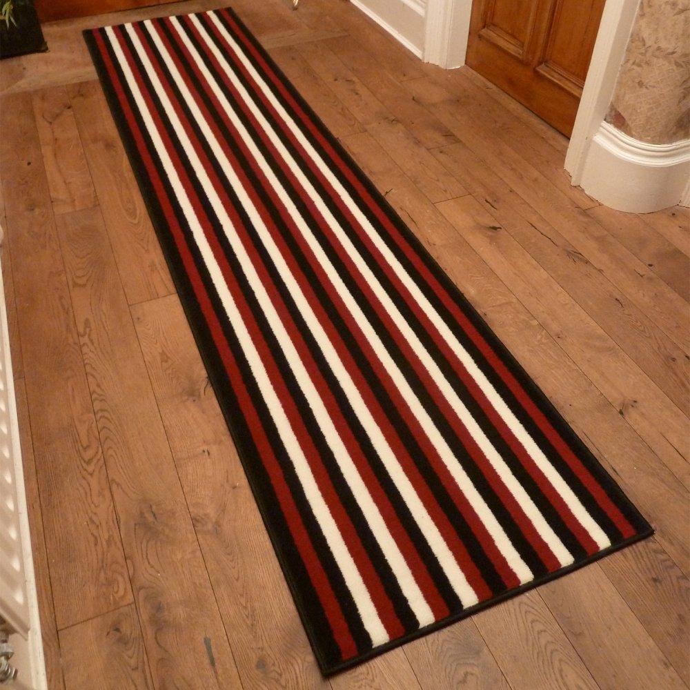 Broad 8 red black cream hallway carpet runner - Black carpet runners for hall ...
