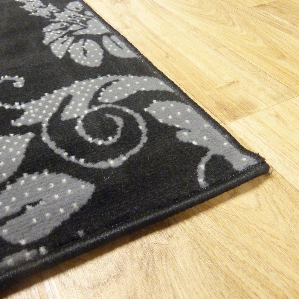Black Amp Silver Floral Rug Carpet Runners Uk