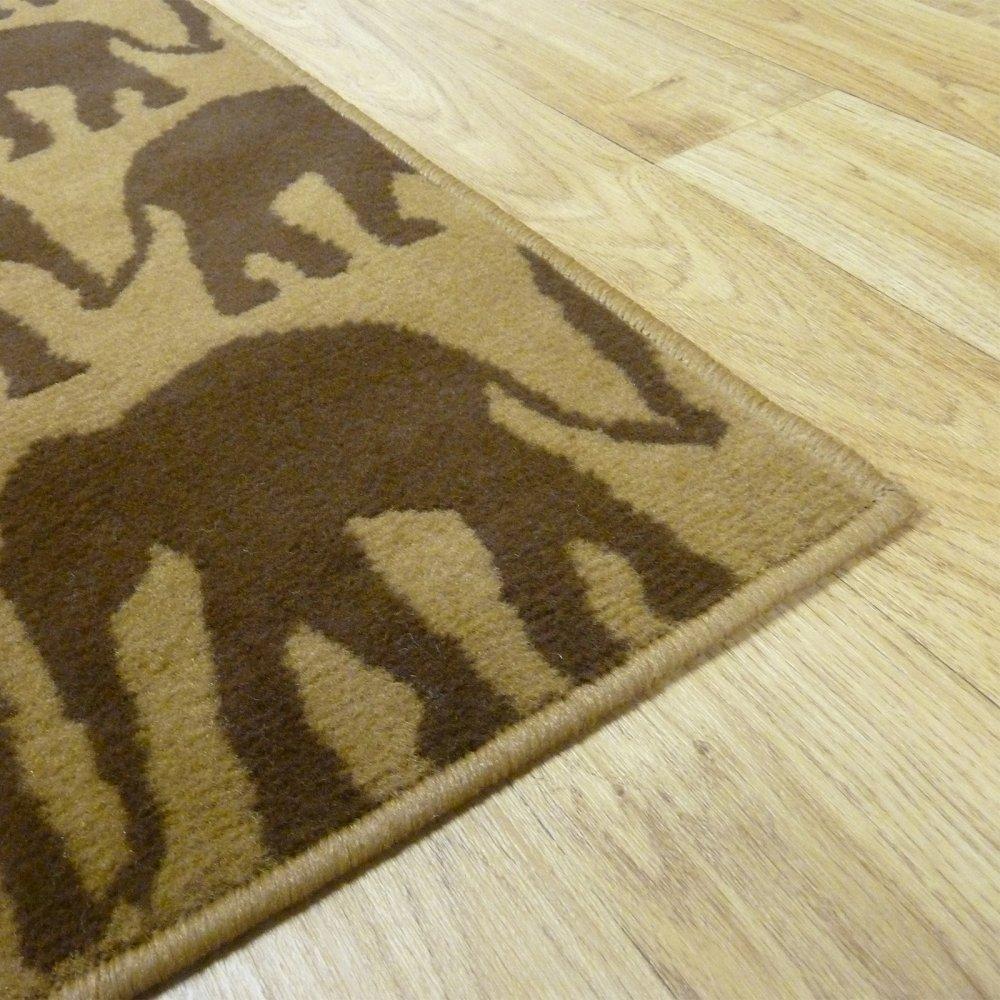 Mini Elephant Print Rug