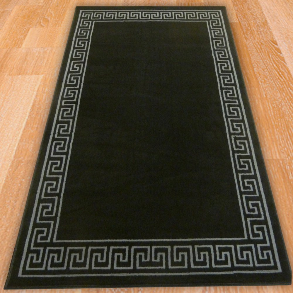 Black Aztec Border Rug Carpet Runners Uk