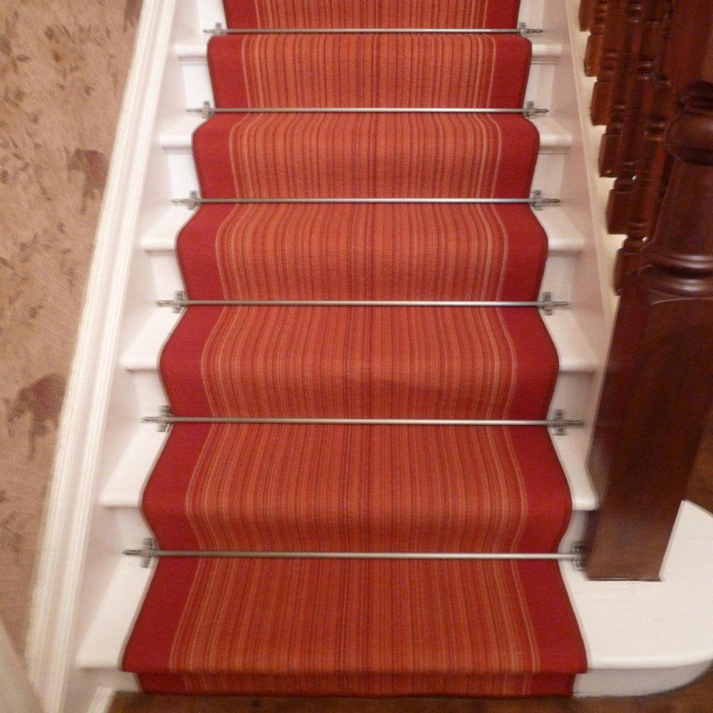 Terracotta Stair Carpet Runner Carnaby Carpet Runners Uk