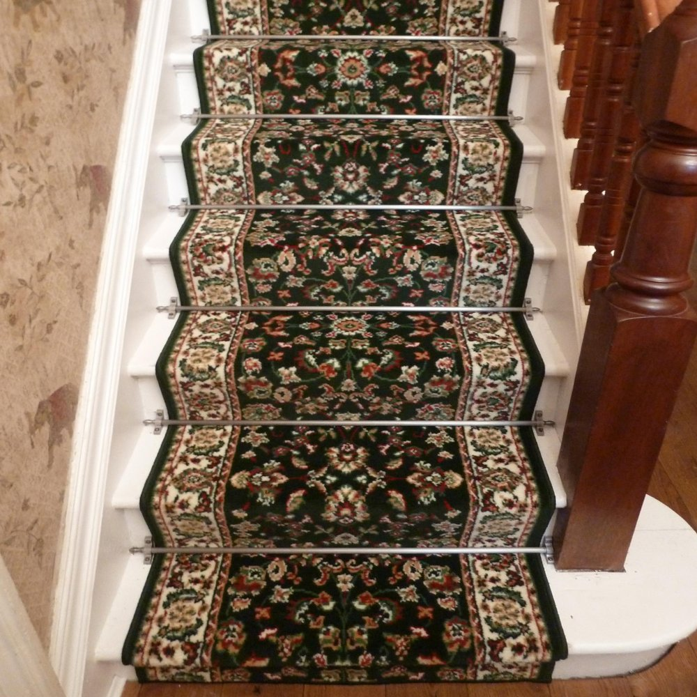 Dark Green Stair Carpet Runner