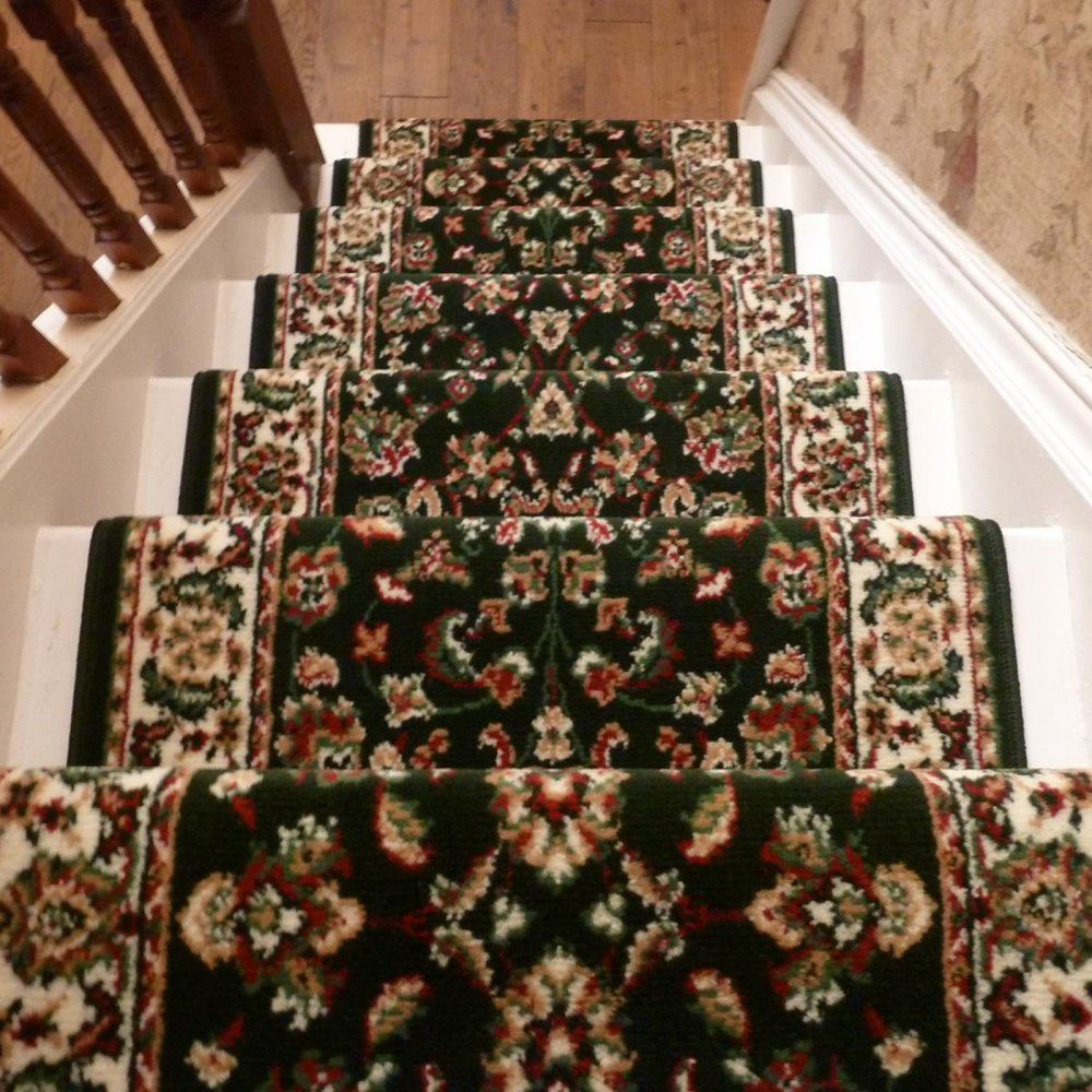 Dark Green Stair Carpet Runner