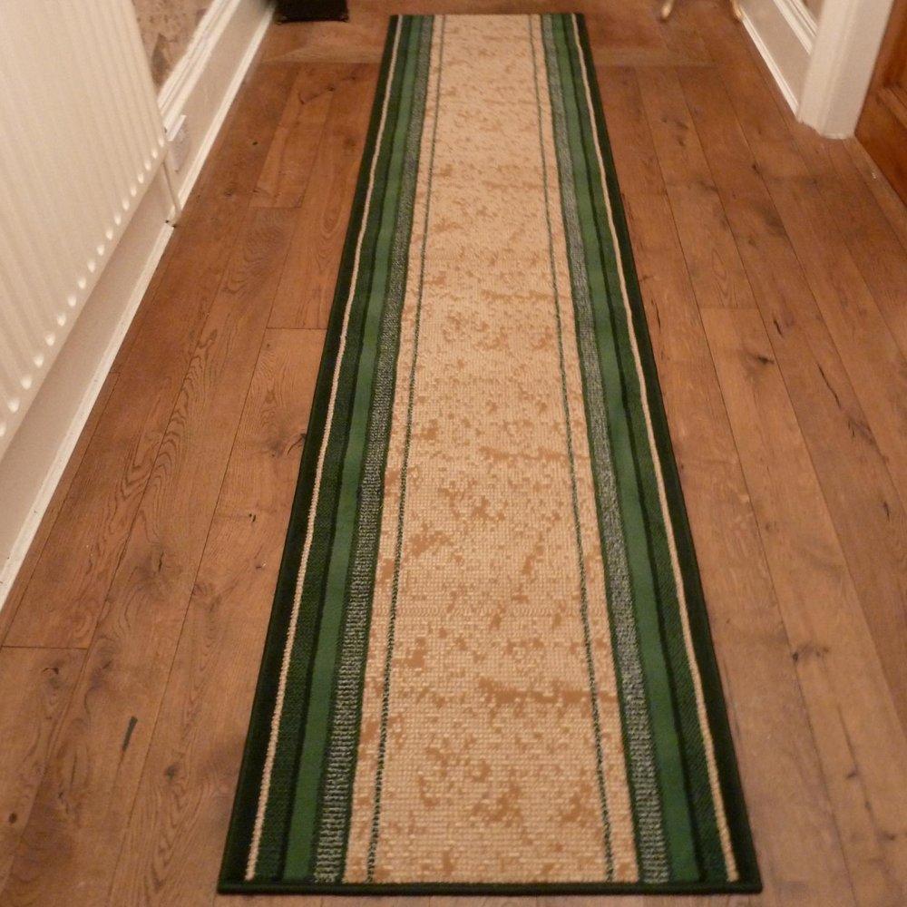 Green Hall Runner Rug Stripe Carpet Runners Uk