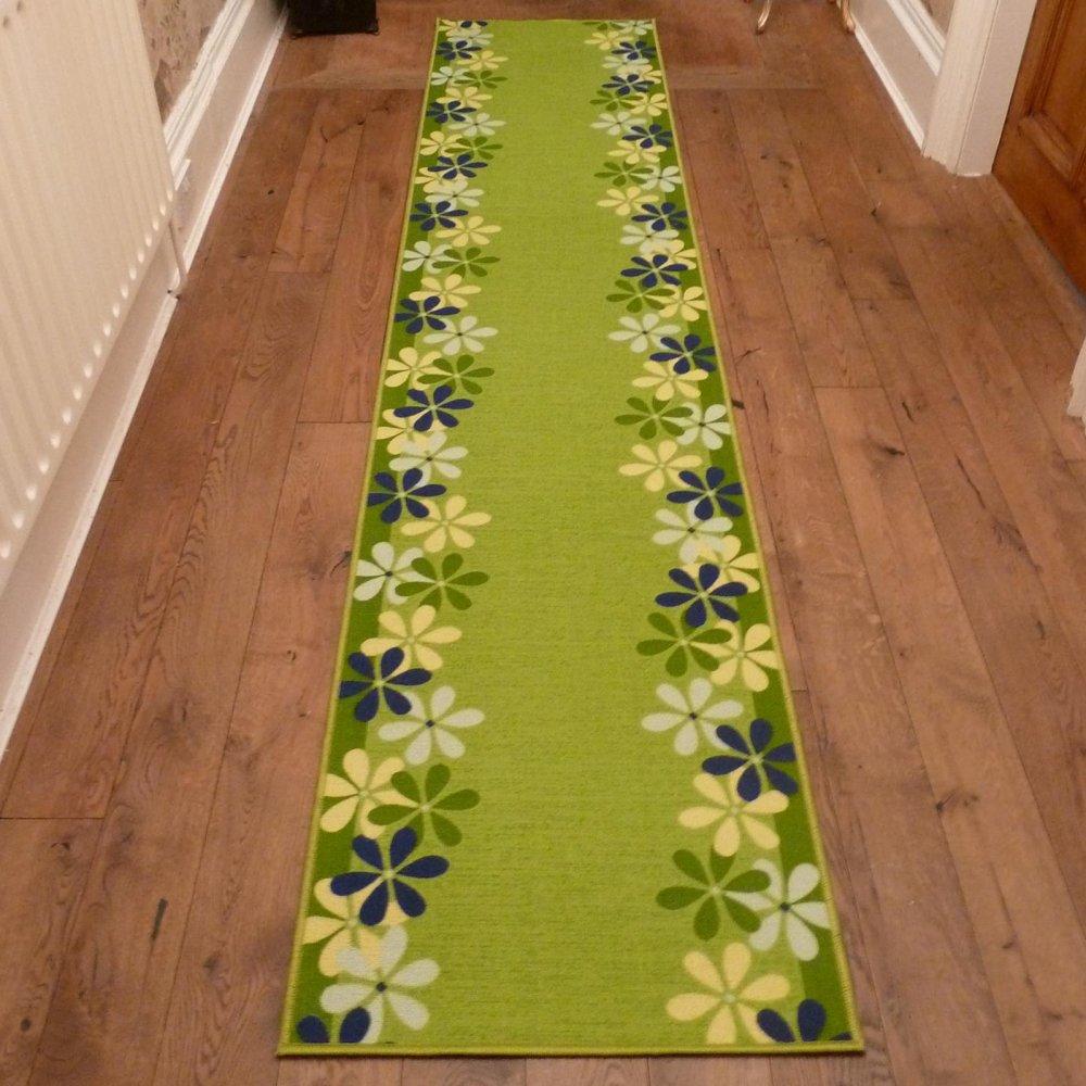 Green Hall Runner Rug