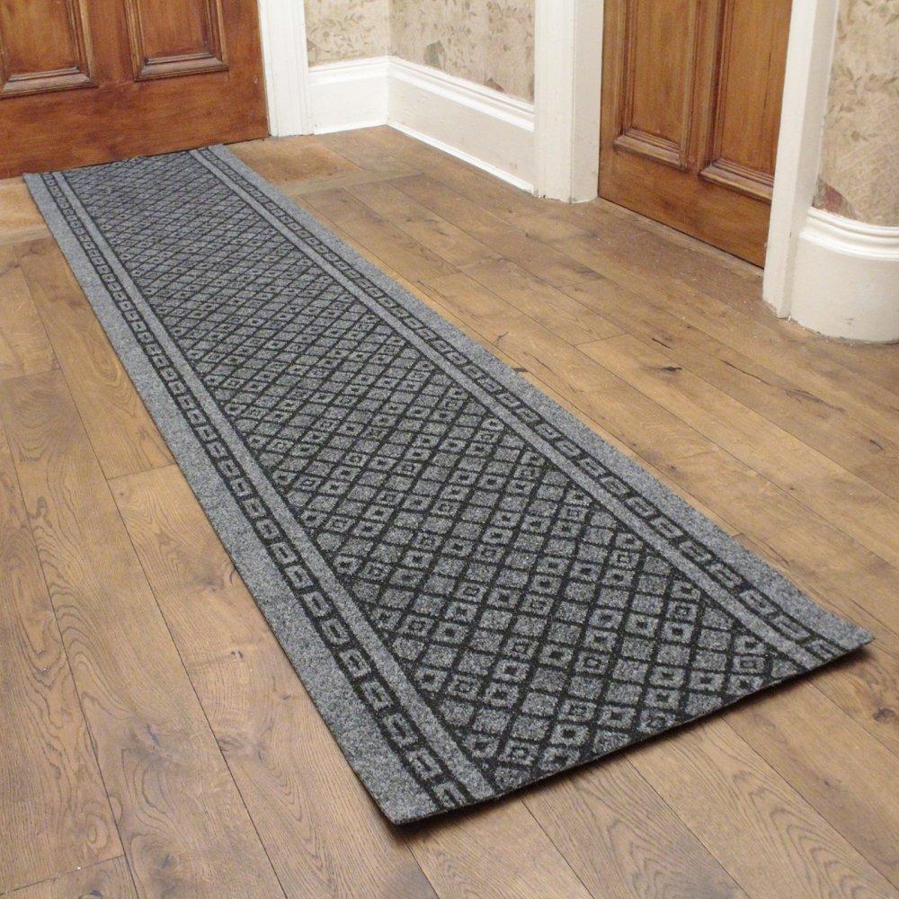 Grey Hall Runner Rug Conga Carpet Runners Uk