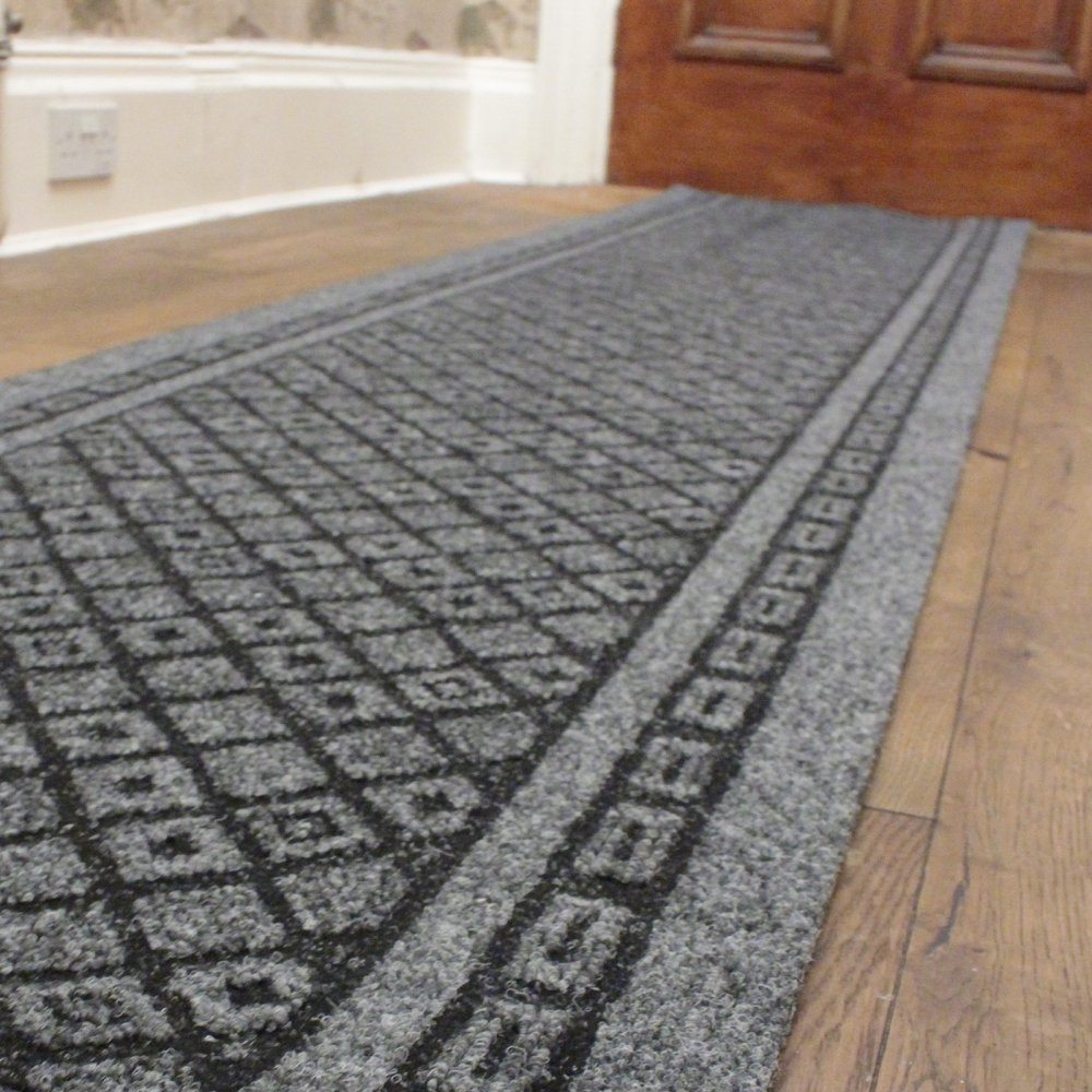 Grey Hall Runner Rug Conga Carpet Runners Uk