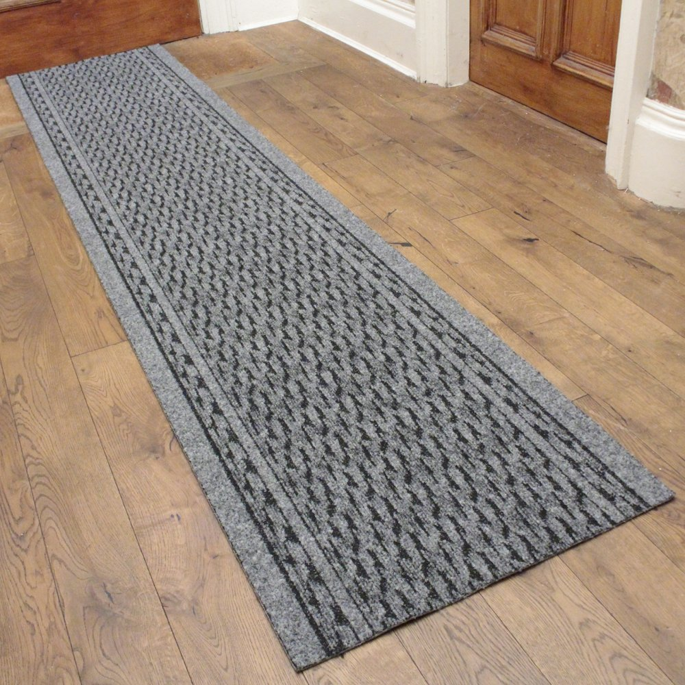 Grey hall runner rug rumba carpet runners uk for Runners carpets and rugs