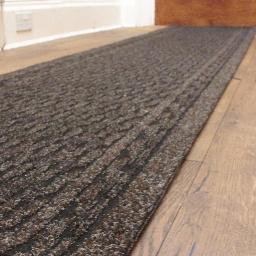 Dark brown commercial carpet - Industrial carpet runners ...