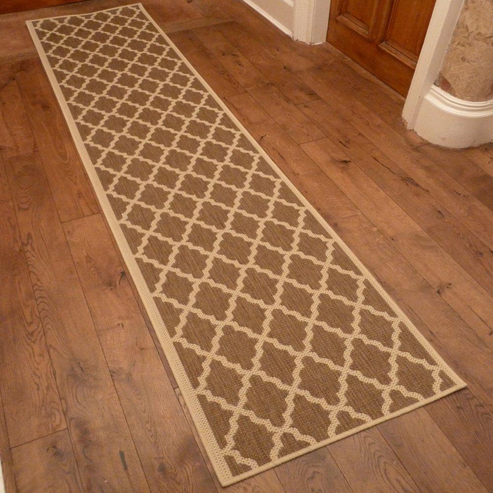 Sisal Rug Got Wet: Beige Hallway Carpet Runner Quatrefoil
