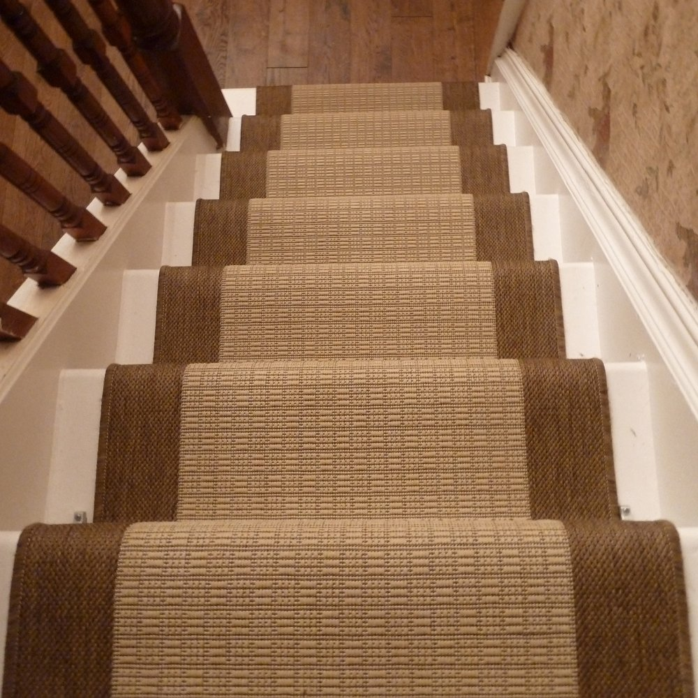 Beige Stair Runner Rug Jenga