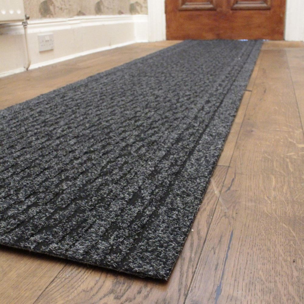 Black hall runner rug rumba carpet runners uk - Black carpet runners for hall ...