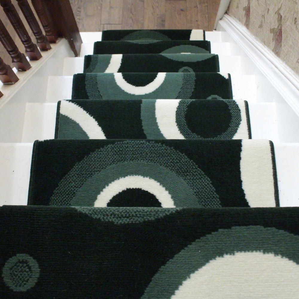 Dark Green Stair Runner Rug
