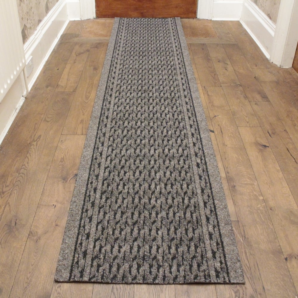 Light Brown Hallway Carpet Runner Rumba