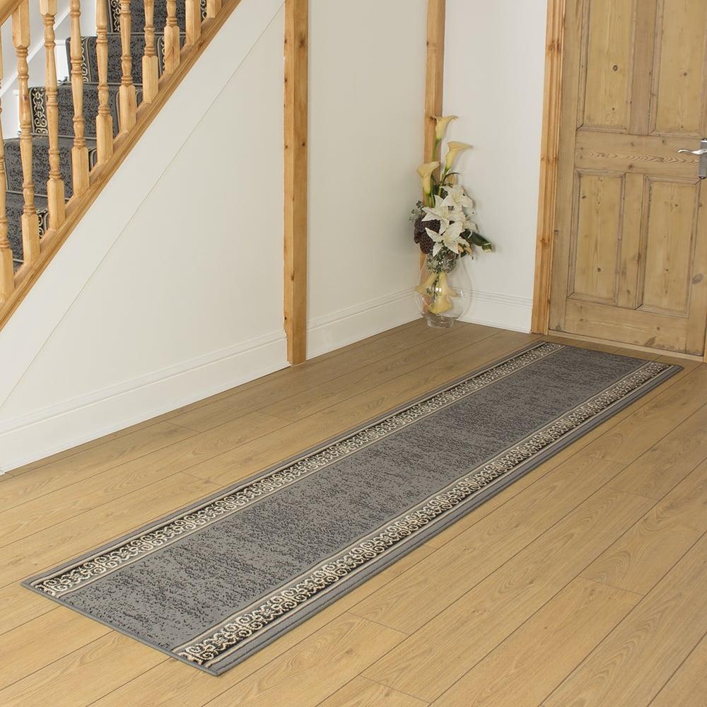 Fresh Tribal Grey Hallway Carpet Runner NS73