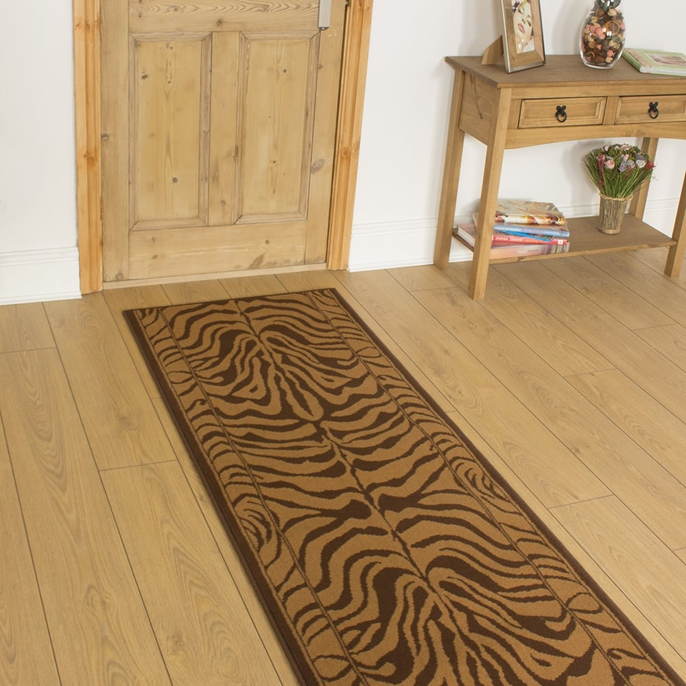 Brown Hallway Carpet Runner Zebra