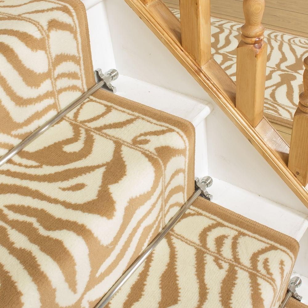 Cream Stair Carpet Runner Zebra