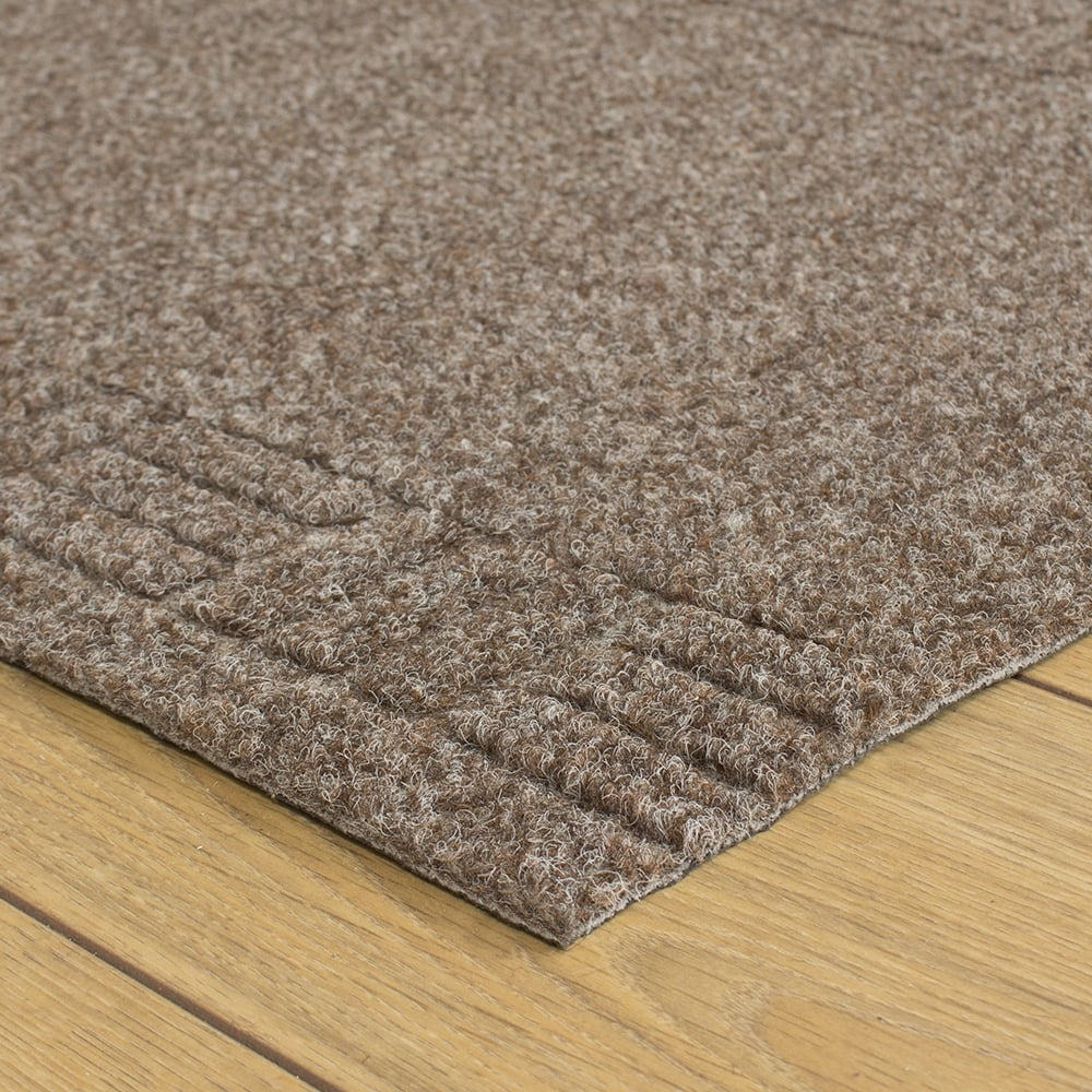 Mega Brown Hallway Commercial Barrier Mat Carpet Runner