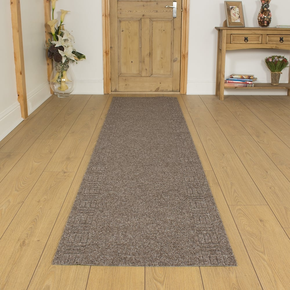 Mega Brown Hallway Commercial Barrier Mat Carpet Runner