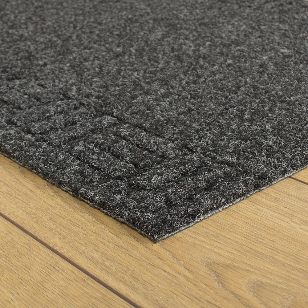 Mega black hallway commercial barrier mat carpet runner from carpet runners uk uk - Industrial carpet runners ...