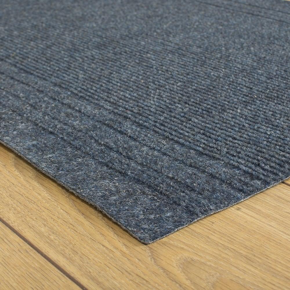 Ringo Blue Hallway Commercial Barrier Mat Carpet Runner