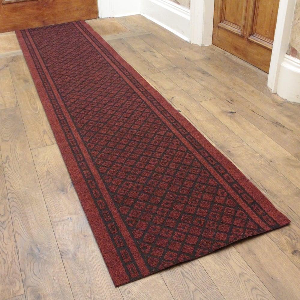 Conga red hallway commercial barrier mat carpet runner from carpet runners uk uk - Industrial carpet runners ...