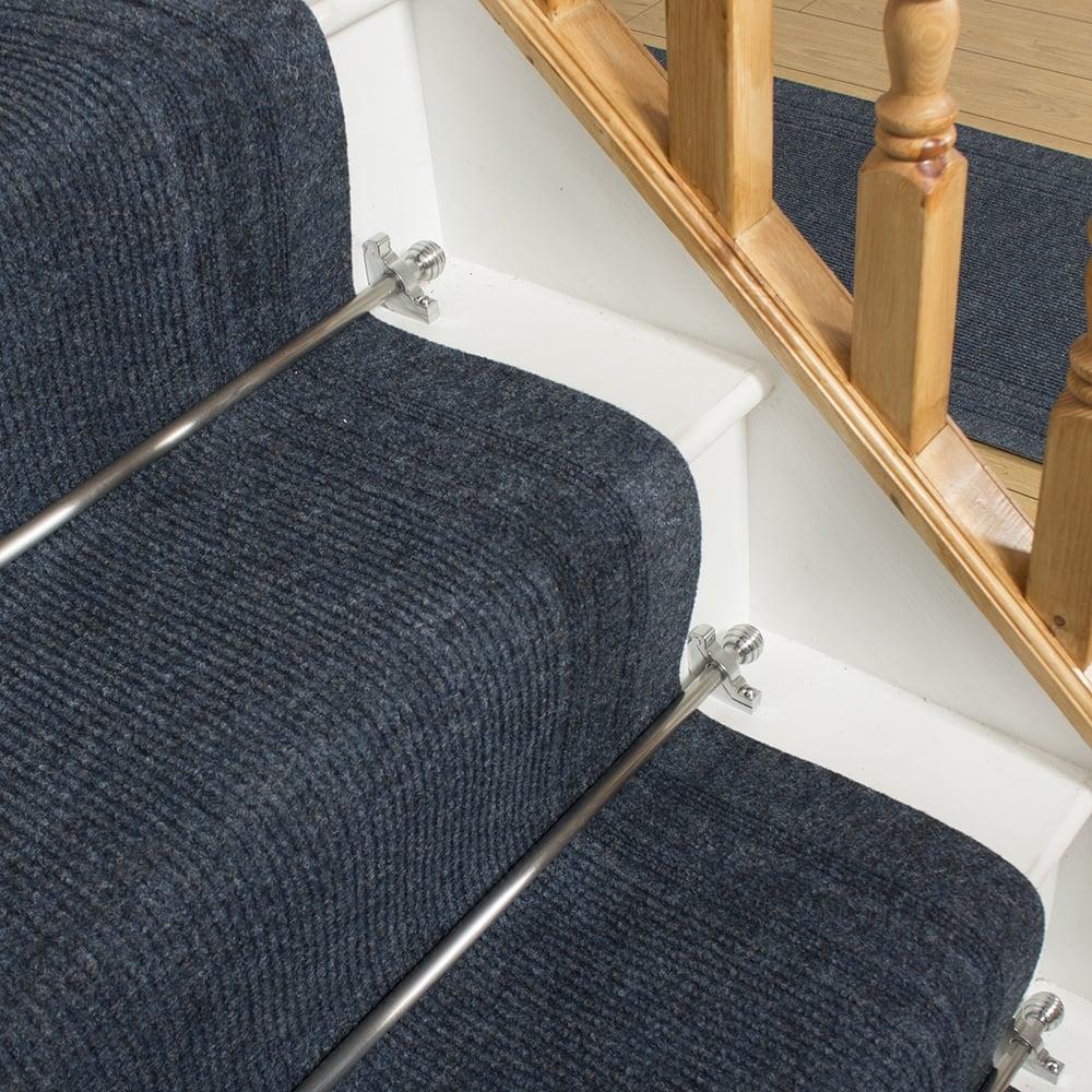 Ringo blue stair carpet runner from carpet runners uk uk for Durable carpet for stairs