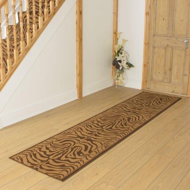 Brown Hallway Carpet Runner Zebra