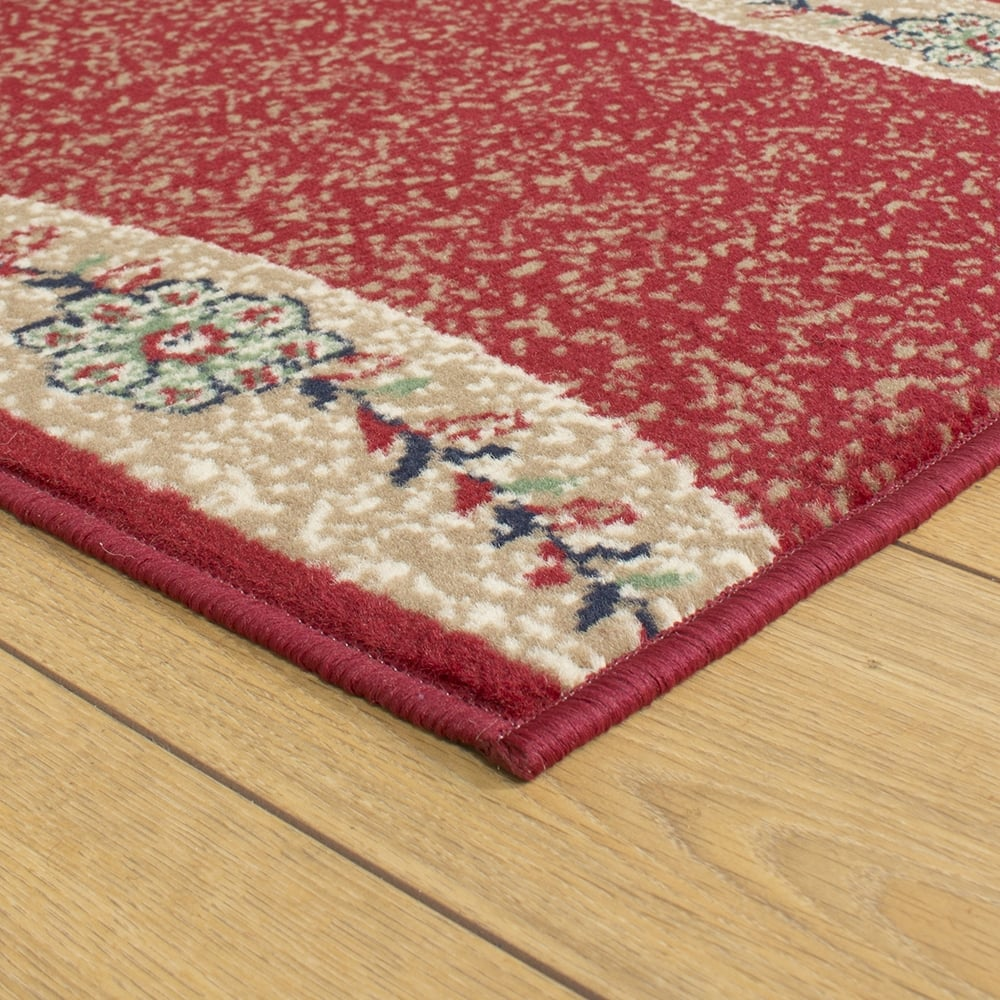 Red Foyer Rug : Wave red hallway carpet runner rug mat for hall extra