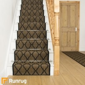 Quatrefoil Black Stair Runner