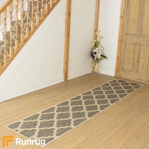 Quatrefoil Tweed Hall Runner
