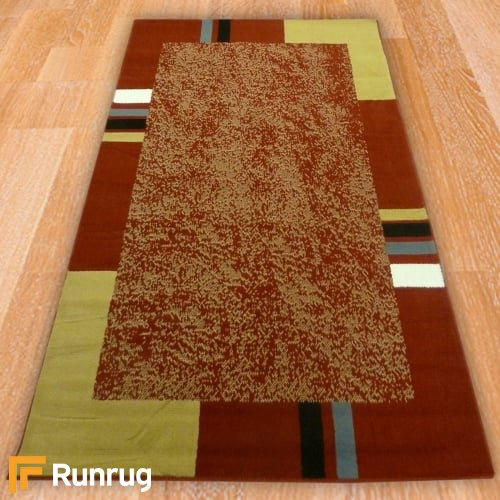 Range 111 - Red / Sand Border Rug