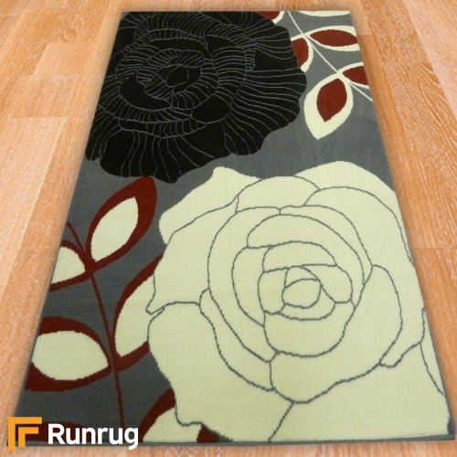 Range 128 - Grey Rose Rug